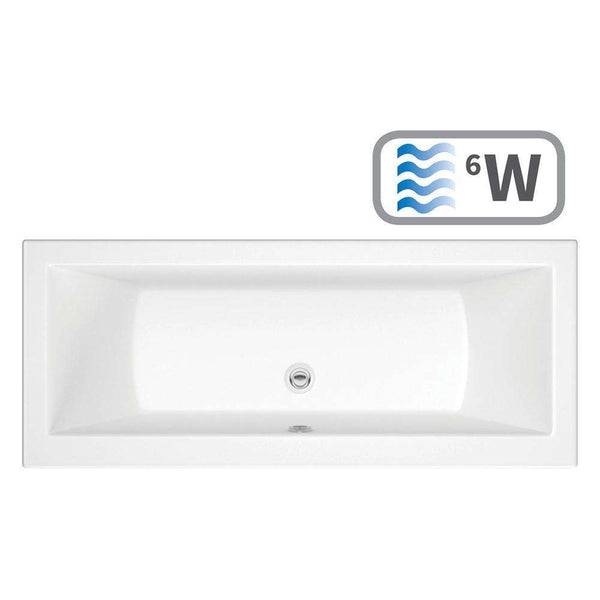Solarna Supercast Double End 1700mm x 700mm 0TH Bath & Whirlpool System