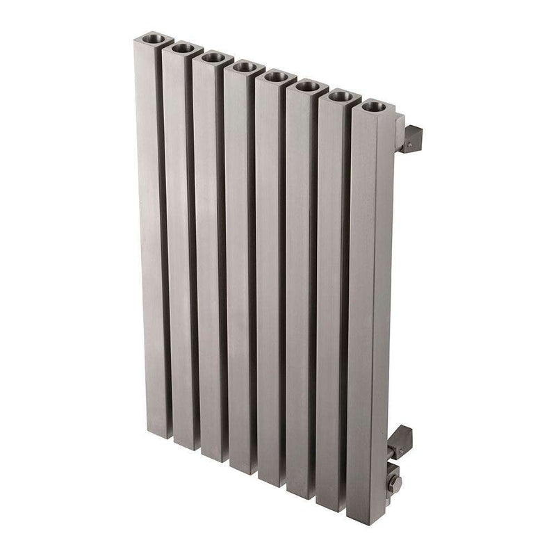 Aeon Dalya: Type E Stainless Steel Designer Radiator - DAE866P | 600mm x 390mm | Polished | MADE TO ORDER
