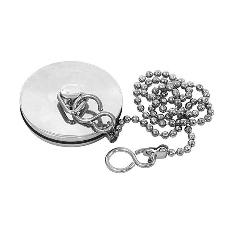 "Basin Plug with 12"" Ball Chain, Chrome (Fits 1 1/4"" Waste)"