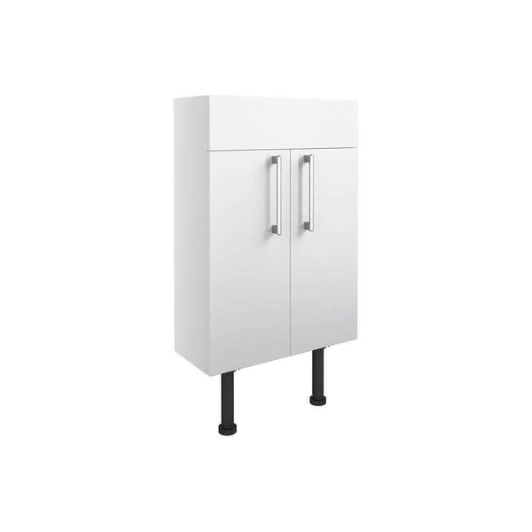 Alba 500mm Slim Vanity Unit, White Gloss