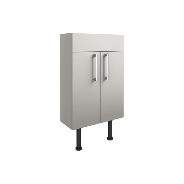 Alba 500mm Slim Vanity Unit, Light Grey Gloss