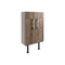 Alba 500mm Slim Vanity Unit, Grey Nebraska Oak