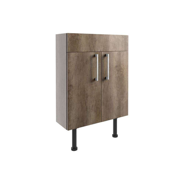Alba 600mm Slim Vanity Unit, Grey Nebraska Oak
