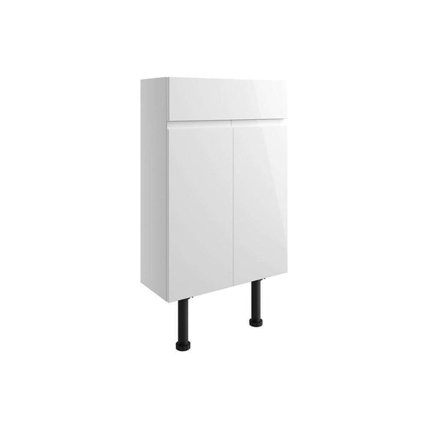 Valesso 500mm Slim Vanity Unit, White Gloss