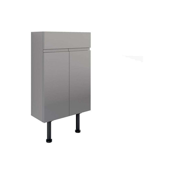Valesso 500mm Slim Vanity Unit, Onyx Grey Gloss