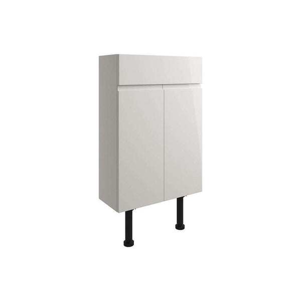 Valesso 500mm Slim Vanity Unit, Pearl Grey Gloss