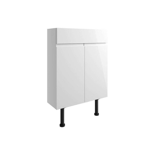 Valesso 600mm Slim Vanity Unit, White Gloss