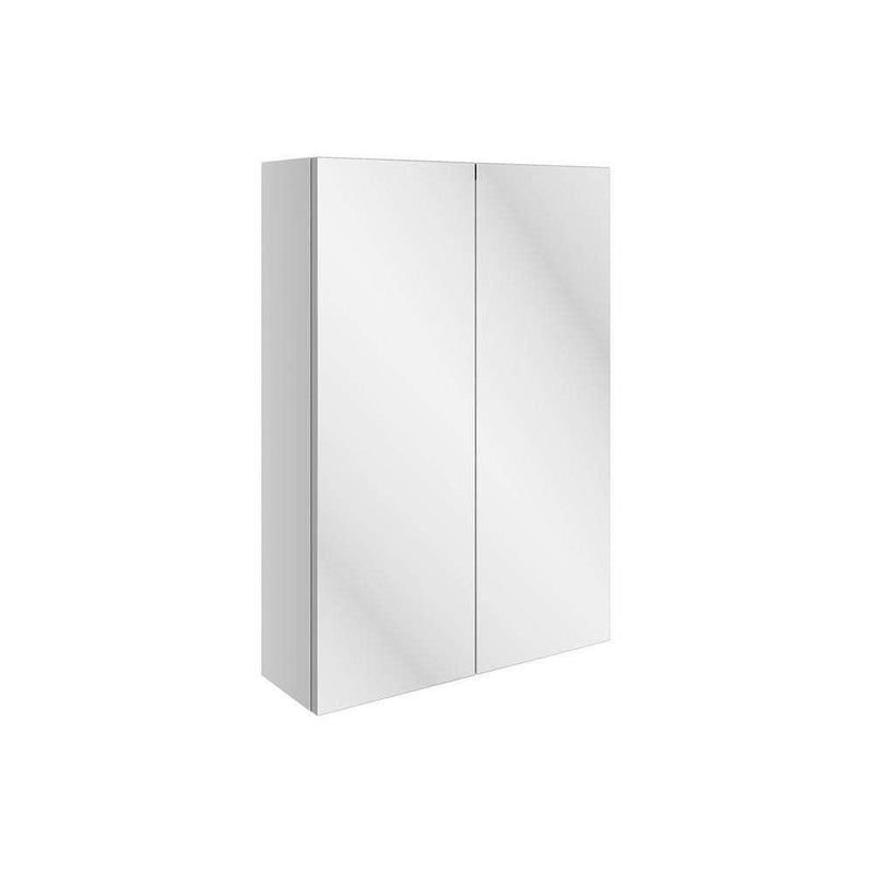 Valesso 500mm Slim Mirrored Wall Unit, White Gloss
