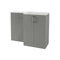 Volta 1100mm Freestanding Vanity, Basin & WC Pack (RH), Grey Gloss