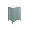 Lucia 600mm Freestanding Vanity Unit & Basin, Sea Green Ash
