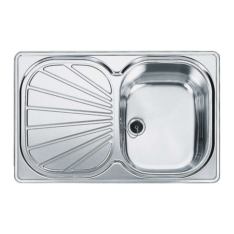 Franke Erica EUX 611-78 Reversible Stainless Steel 1.0 Bowl Inset Sink | 101.0052.643