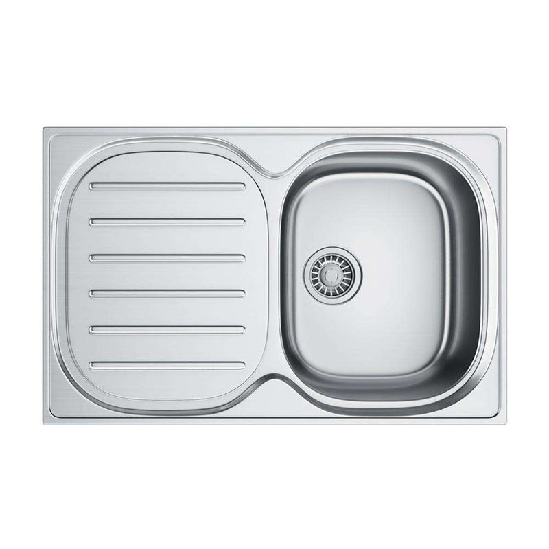 Franke Compact Plus CPX P 611 780 Left Handed Stainless Steel 1.0 Bowl Inset Sink | 101.0182.232