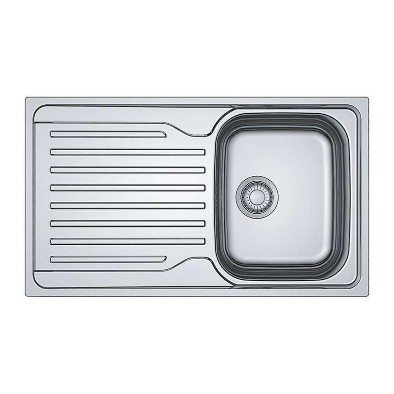 Franke Antea AZN 611-86 Reversible Stainless Steel 1.0 Bowl Inset Sink | 101.0453.776