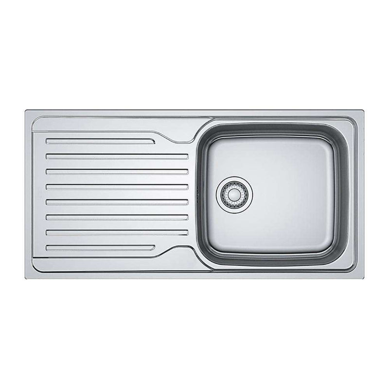 Franke Antea AZN 611-100 Reversible Stainless Steel 1.0 Bowl Inset Sink | 101.0453.805
