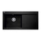 Franke Mythos MTG 611 Right Handed Fragranite 1.0 Bowl Inset Sink, Onyx | 114.0153.471