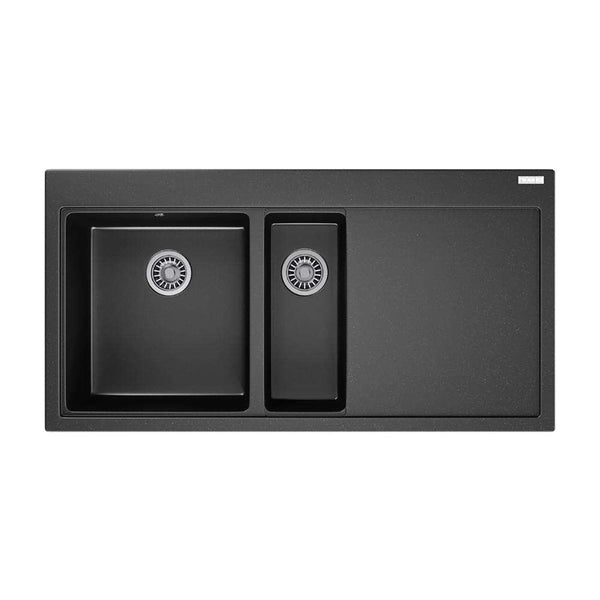 Franke Mythos MTG 651-100 Right Handed Fragranite 1.5 Bowl Inset Sink, Onyx | 114.0153.480