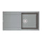 Franke Maris MRG 611 Reversible Fragranite 1.0 Bowl Inset Sink, Stone Grey | 114.0193.689