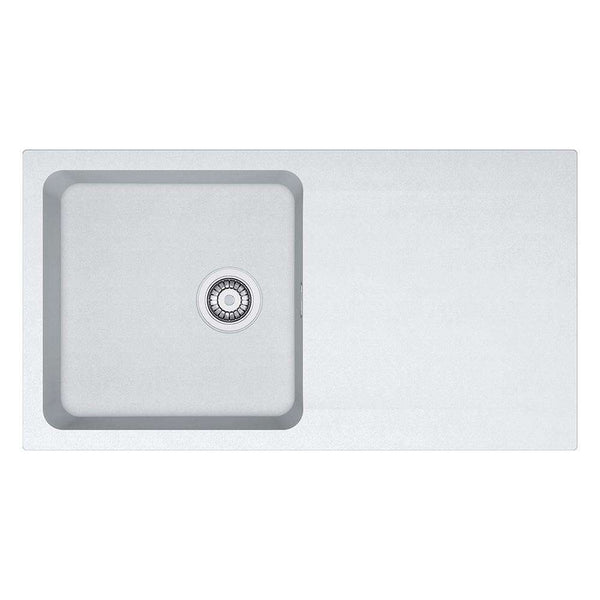 Franke Orion OID 611-94 Reversible Tectonite 1.0 Bowl Inset Sink, White | 114.0316.205
