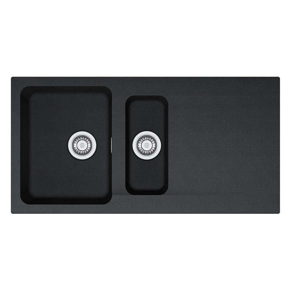 Franke Orion OID 651 Reversible Tectonite 1.5 Bowl Inset Sink, Black | 114.0316.242