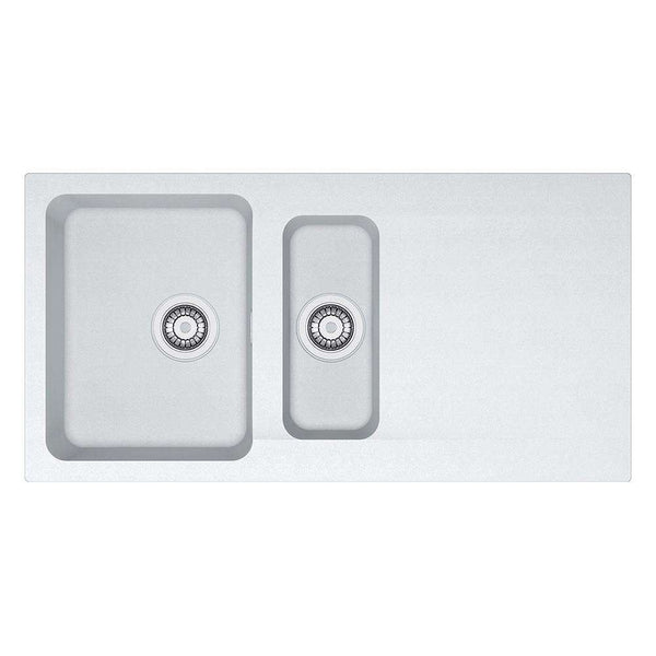 Franke Orion OID 651 Reversible Tectonite 1.5 Bowl Inset Sink, White | 114.0316.243