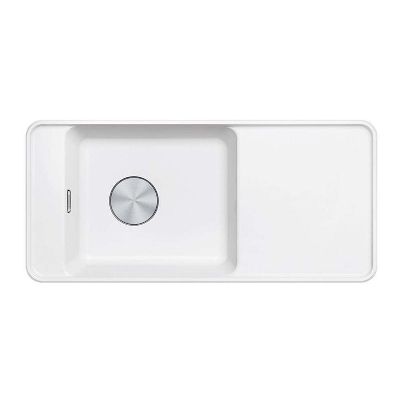 Franke Style SYG 611 Reversible Fragranite 1.0 Bowl Inset Sink, White | 114.0484.576