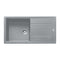Franke Basis BFG 611-970 Reversible Fragranite 1.0 Bowl Inset Sink, Stone Grey | 114.0484.967