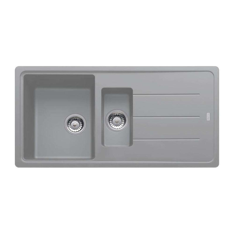 Franke Basis BFG 651 Reversible Fragranite 1.5 Bowl Inset Sink, Stone Grey | 114.0484.968