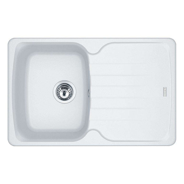 Franke Antea AZG 611-78 Reversible Fragranite 1.0 Bowl Inset Sink, White | 114.0532.312