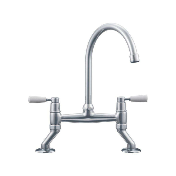 Franke Bridge Lever Classic Tap, Silk Steel | 115.0049.963
