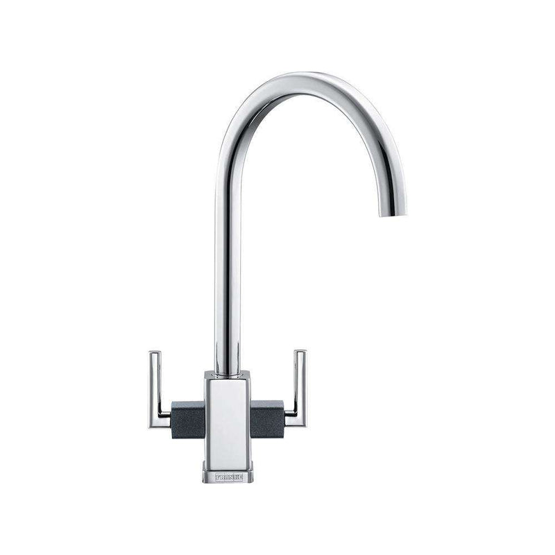 Franke Mythos Mixer Tap, Chrome/Onyx | 115.0049.967