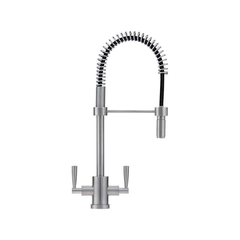 Franke Olympus Spring Mixer Tap with Pull-Out Nozzle, Silk Steel | 115.0311.190