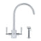 Franke Filterflow Olympus Mixer Tap with Hand Spray, Chrome | 120.0184.896
