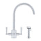 Franke Filterflow Olympus Mixer Tap with Hand Spray, Silk Steel | 120.0185.410