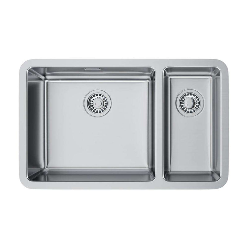 Franke Kubus KBX 160 45-20 Right Handed Small Bowl Stainless Steel 1.5 Bowl Undermount Sink | 122.0033.141