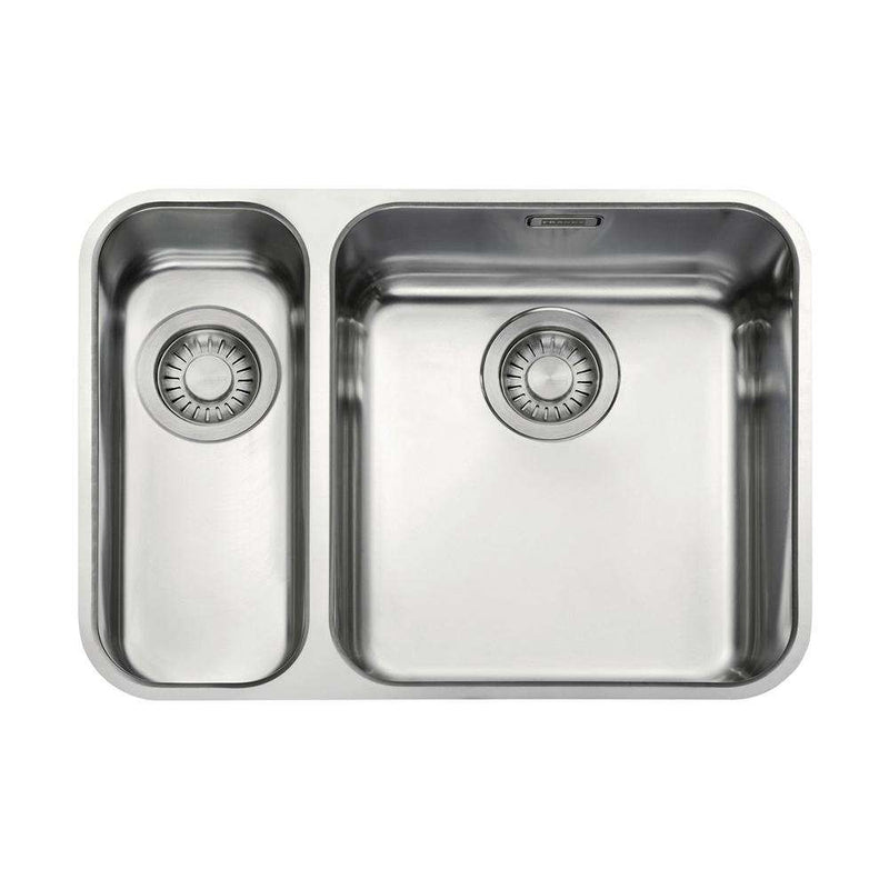 Franke Largo LAX 160 36-16 Left Handed Small Bowl Stainless Steel 1.5 Bowl Undermount Sink | 122.0156.345