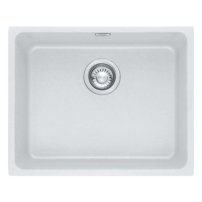 Franke Kubus KBG 110-50 Fragranite 1.0 Bowl Undermount Sink, White | 125.0046.874