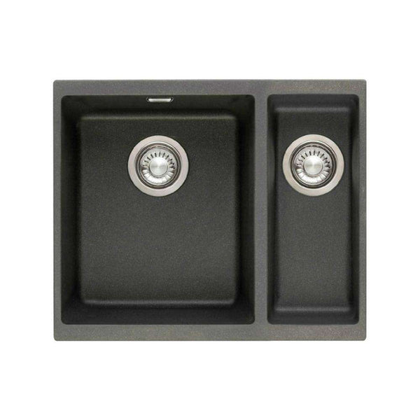 Franke Sirius SID 160 Right Handed Small Bowl Tectonite 1.5 Bowl Undermount Sink, Black | 125.0252.215
