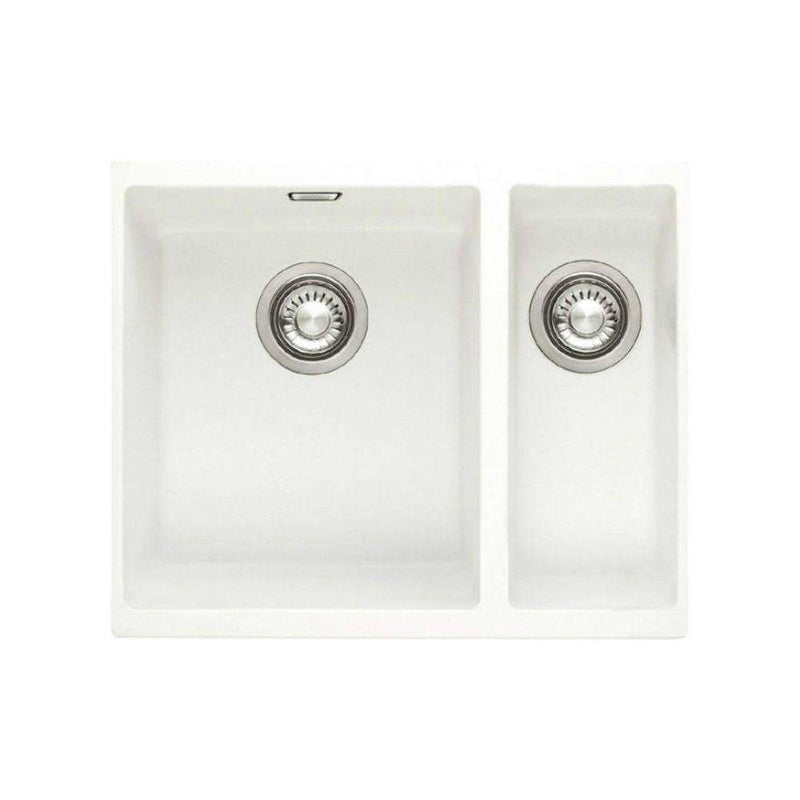 Franke Sirius SID 160 Right Handed Small Bowl Tectonite 1.5 Bowl Undermount Sink, White | 125.0252.219