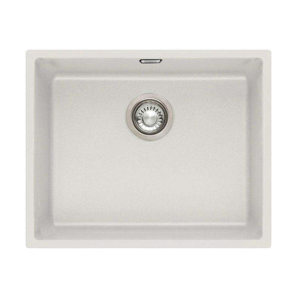 Franke Sirius SID 110-50 Tectonite 1.0 Bowl Undermount Sink, White | 125.0252.224