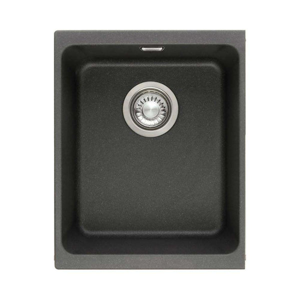 Franke Sirius SID 110-34 Tectonite 1.0 Bowl Undermount Sink, Black | 125.0252.227