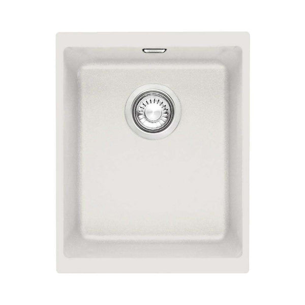 Franke Sirius SID 110-34 Tectonite 1.0 Bowl Undermount Sink, White | 125.0252.229