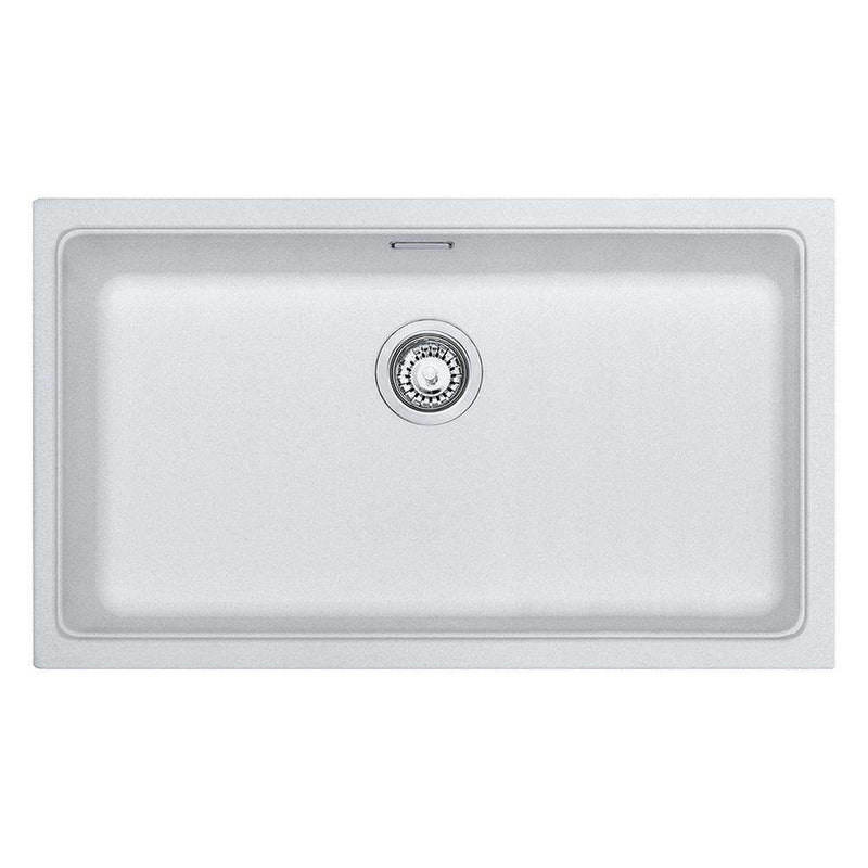 Franke Kubus KBG 110-70 Fragranite 1.0 Bowl Undermount Sink, White | 125.0265.054