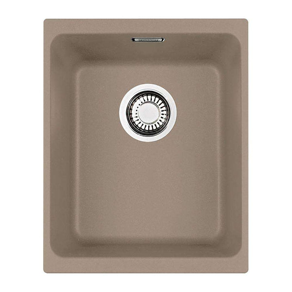 Franke Kubus KBG 110-34 Fragranite 1.0 Bowl Undermount Sink, Oyster | 125.0312.757