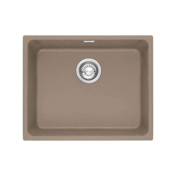 Franke Kubus KBG 110-50 Fragranite 1.0 Bowl Undermount Sink, Oyster | 125.0312.758
