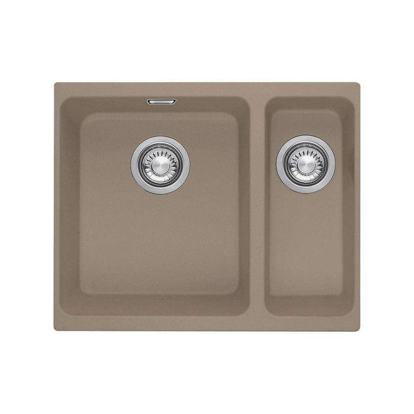 Franke Kubus KBG 160 Right Handed Small Bowl Fragranite 1.5 Bowl Undermount Sink, Oyster | 125.0312.759