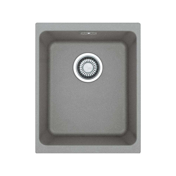 Franke Kubus KBG 110-34 Fragranite 1.0 Bowl Undermount Sink, Stone Grey | 125.0435.830