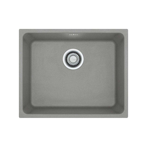 Franke Kubus KBG 110-50 Fragranite 1.0 Bowl Undermount Sink, Stone Grey | 125.0435.861