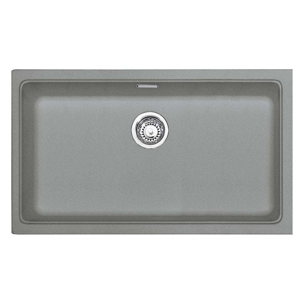 Franke Kubus KBG 110-70 Fragranite 1.0 Bowl Undermount Sink, Stone Grey | 125.0531.654