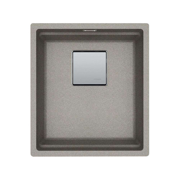 Franke Kubus KNG 110-37 Fragranite 1.0 Bowl Undermount Sink, Sterling Silver | 125.0539.635