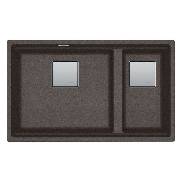 Franke Kubus KNG 120 Right Handed Small Bowl Fragranite 1.5 Bowl Undermount Sink, Copper Grey | 125.0539.637